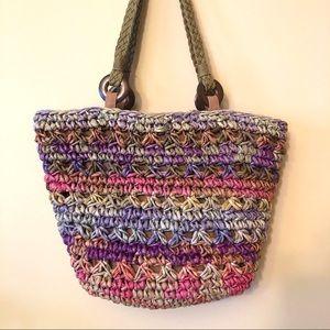 Handbags - LIKE NEW Capelli New York corn husk multicolor bag